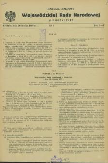 Dziennik Urzędowy Wojewódzkiej Rady Narodowej w Koszalinie. 1969, nr 1 (10 lutego)