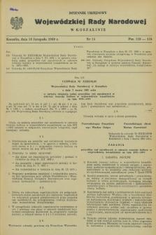 Dziennik Urzędowy Wojewódzkiej Rady Narodowej w Koszalinie. 1969, nr 14 (18 listopada)
