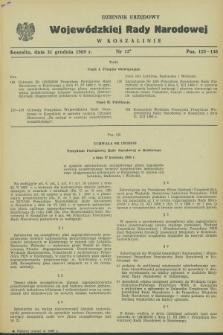 Dziennik Urzędowy Wojewódzkiej Rady Narodowej w Koszalinie. 1969, nr 15 (31 grudnia)