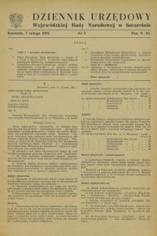 Dziennik Urzędowy Wojewódzkiej Rady Narodowej w Szczecinie. 1951, nr 3 (7 lutego)