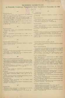 Dziennik Urzędowy Wojewódzkiej Rady Narodowej w Szczecinie. 1968, Skorowidz alfabetyczny za rok 1968