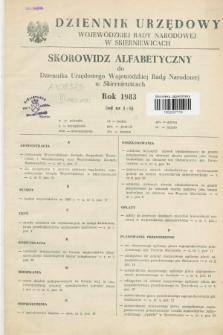 Dziennik Urzędowy Wojewódzkiej Rady Narodowej w Skierniewicach. 1983, Skorowidz Alfabetyczny