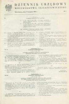 Dziennik Urzędowy Województwa Skierniewickiego. 1987, nr 6 (17 sierpnia)