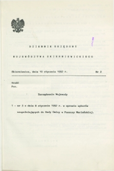 Dziennik Urzędowy Województwa Skierniewickiego. 1992, nr 2 (10 stycznia)