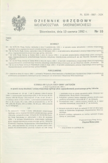 Dziennik Urzędowy Województwa Skierniewickiego. 1992, nr 10 (10 czerwca)