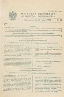 Dziennik Urzędowy Województwa Skierniewickiego. 1992, nr 11 (22 czerwca)
