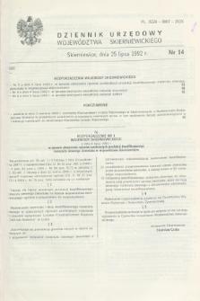 Dziennik Urzędowy Województwa Skierniewickiego. 1992, nr 14 (25 lipca)