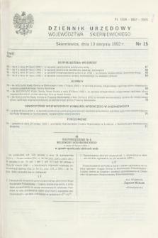 Dziennik Urzędowy Województwa Skierniewickiego. 1992, nr 15 (10 sierpnia)