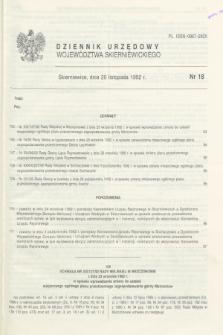 Dziennik Urzędowy Województwa Skierniewickiego. 1992, nr 18 (20 listopada)