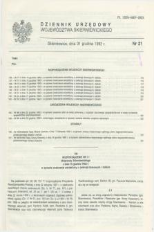 Dziennik Urzędowy Województwa Skierniewickiego. 1992, nr 21 (31 grudnia)