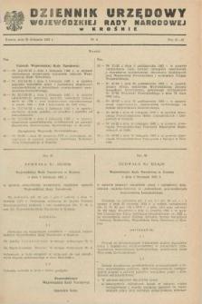 Dziennik Urzędowy Wojewódzkiej Rady Narodowej w Krośnie. 1982, nr 6 (20 listopada)
