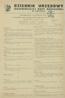 Dziennik Urzędowy Wojewódzkiej Rady Narodowej w Krośnie. 1983, Skorowidz Alfabetyczny