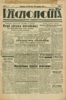 Nowa Rzeczpospolita : pismo codzienne. R.1, nr 2 (12 kwietnia 1938)