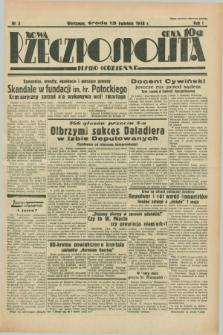 Nowa Rzeczpospolita : pismo codzienne. R.1, nr 3 (13 kwietnia 1938)