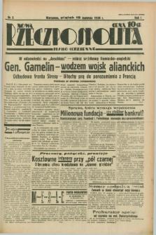 Nowa Rzeczpospolita : pismo codzienne. R.1, nr 5 (15 kwietnia 1938)