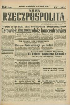 Nowa Rzeczpospolita. R.1, nr 11 (24 kwietnia 1938)