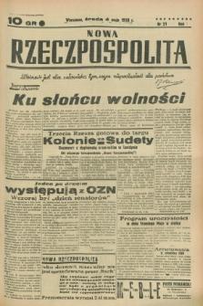 Nowa Rzeczpospolita. R.1, nr 21 (4 maja 1938)