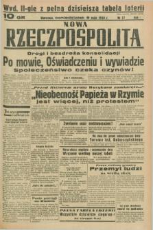 Nowa Rzeczpospolita. R.1, nr 27 (9 maja 1938) wyd. II