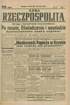 Nowa Rzeczpospolita. R.1, nr 27 (10 maja 1938)
