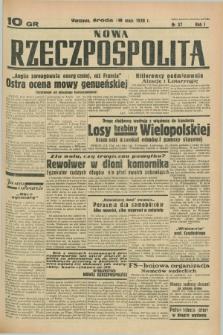 Nowa Rzeczpospolita. R.1, nr 37 (18 maja 1938)