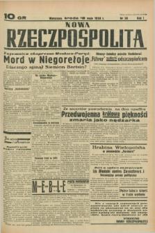 Nowa Rzeczpospolita. R.1, nr 38 (18 maja 1938)