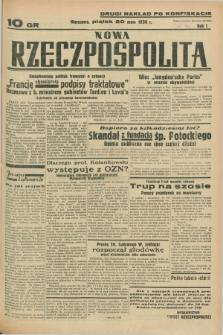 Nowa Rzeczpospolita. R.1, nr 39 (20 maja 1938) drugi nakład po konfiskacie