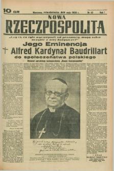 Nowa Rzeczpospolita. R.1, nr 43 (22 maja 1938)