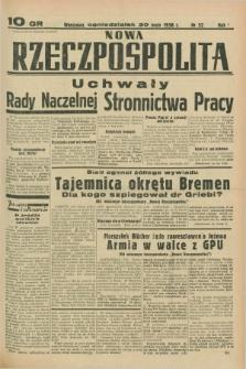 Nowa Rzeczpospolita. R.1, nr 52 (30 maja 1938)