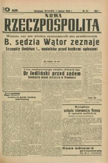 Nowa Rzeczpospolita. R.1, nr 54 (1 czerwca 1938)