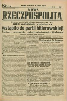 Nowa Rzeczpospolita. R.1, nr 56 (4 czerwca 1938)