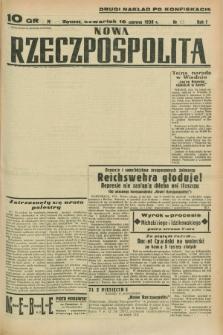 Nowa Rzeczpospolita. R.1, nr 69 (16 czerwca 1938) drugi nakład po konfiskacie