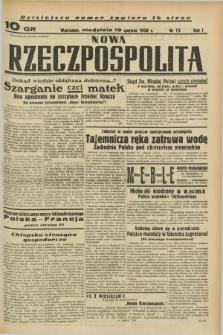 Nowa Rzeczpospolita. R.1, nr 73 (19 czerwca 1938)