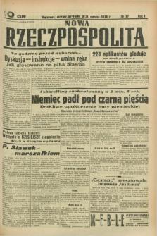 Nowa Rzeczpospolita. R.1, nr 77 (23 czerwca 1938)