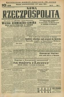 Nowa Rzeczpospolita. R.1, nr 81 (27 czerwca 1938)
