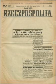 Nowa Rzeczpospolita. R.1, nr 85 (30 czerwca 1938) drugi nakład po konfiskacie
