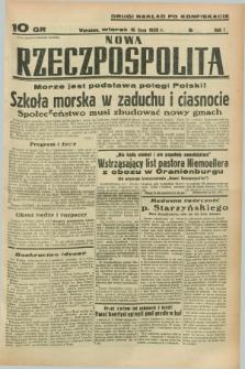Nowa Rzeczpospolita. R.1, nr 92 (5 lipca 1938) drugi nakład po konfiskacie