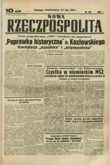 Nowa Rzeczpospolita. R.1, nr 104 (17 lipca 1938)