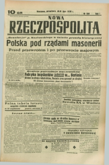 Nowa Rzeczpospolita. R.1, nr 109 (22 lipca 1938) drugi nakład po konfiskacie