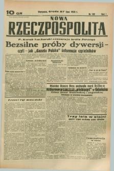 Nowa Rzeczpospolita. R.1, nr 115 (27 lipca 1938)
