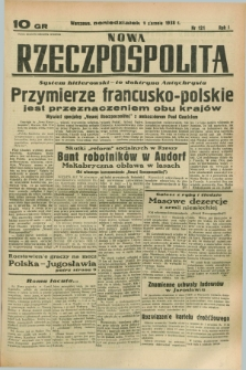 Nowa Rzeczpospolita. R.1, nr 121 (1 sierpnia 1938)