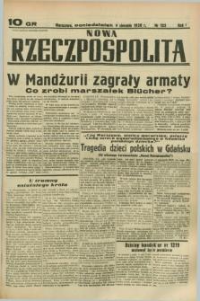 Nowa Rzeczpospolita. R.1, nr 122 (1 sierpnia 1938)