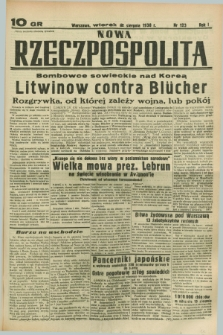 Nowa Rzeczpospolita. R.1, nr 123 (2 sierpnia 1938)