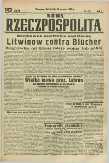 Nowa Rzeczpospolita. R.1, nr 123 (3 sierpnia 1938)