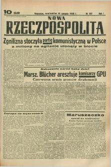 Nowa Rzeczpospolita. R.1, nr 127 (6 sierpnia 1938)