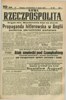 Nowa Rzeczpospolita. R.1, nr 128 (7 sierpnia 1938)