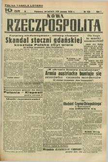 Nowa Rzeczpospolita. R.1, nr 133 (12 sierpnia 1938)