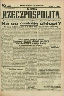 Nowa Rzeczpospolita. R.1, nr 138 (19 sierpnia 1938)