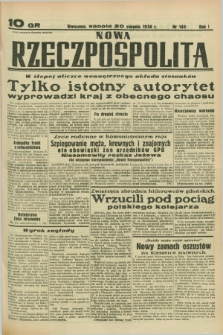 Nowa Rzeczpospolita. R.1, nr 140 (20 sierpnia 1938)