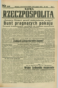 Nowa Rzeczpospolita. R.1, nr 143 (22 sierpnia 1938)