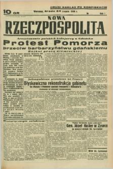 Nowa Rzeczpospolita. R.1, nr 144 (24 sierpnia 1938) drugi nakład po konfiskacie